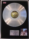 THE BEATLES  - ABBEY ROAD - LP  Platinum  Disc